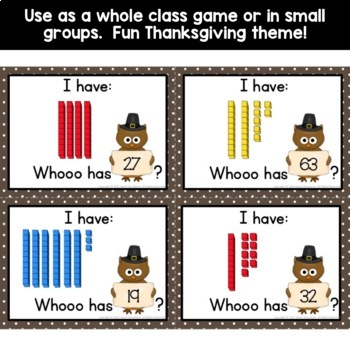 Place Value Game (I Have, Who Has? - 1.NBT.B2)