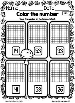 Spring First Grade Math Place Value Mega Math Practice SPRING 1.NBT.2