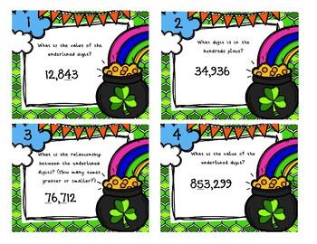 Understanding Place Value Task Cards 4.NBT.1