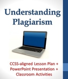 Understanding Plagiarism Lesson Plan including PowerPoint