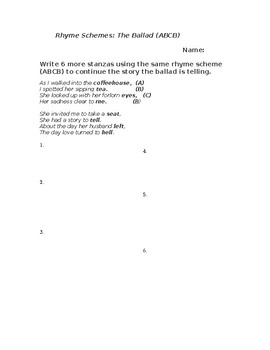 Understanding Poetry Rhyme Schemes: The Ballad (ABCB)