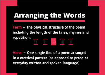 Understanding Poetry: The Basics and Activity