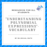Understanding Polynomial Expressions - Vocabulary-ELL Resource