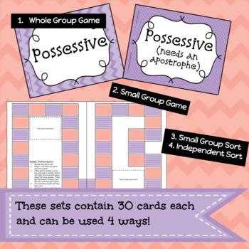 Understanding Possessive Nouns Game/Sort Pack