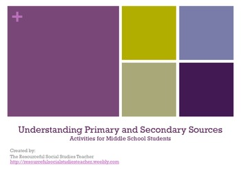Understanding Primary and Secondary Sources Activities for Middle School