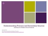 Understanding Primary and Secondary Sources Activities for