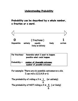 Understanding Probability as a Word or Fraction