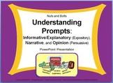 Understanding Prompts: Expository, Narrative, & Persuasive PPT