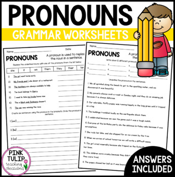 Understanding Pronouns Worksheets - No Prep Printables