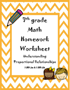 Understanding Proportional Relationships Homework Worksheet