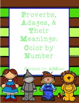 Proverbs and Adages Color by Number