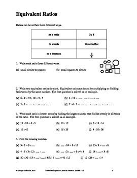 Understanding Ratio, Rate & Percent, Grades 7-10
