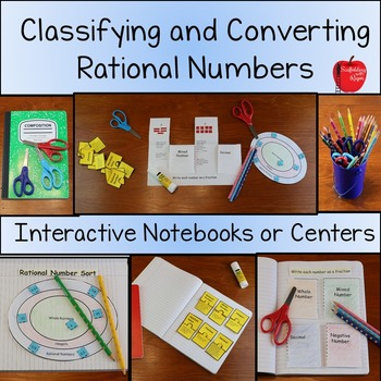 Rational Numbers: Classifying and Converting (Graphic Organizer with Activities)