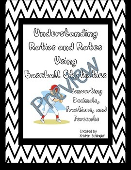 Understanding Ratios and Rates Using Baseball