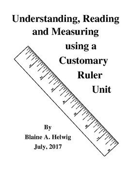 Understanding Reading, Measuring Using A Customary Ruler with Application - FREE