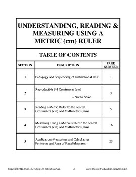 Understanding Reading, Measuring Using A Metric Ruler with Application - FREE