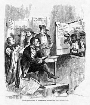 Understanding Reconstruction through political cartoons-A