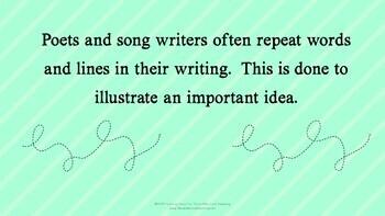 Understanding Repeated Lines in Poetry