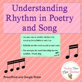 Understanding Rhythm in Poetry and Song