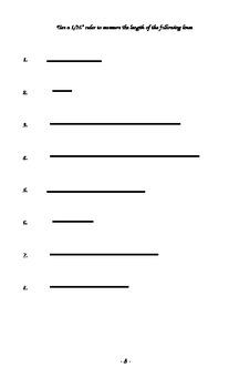 Understanding Ruler Fractions Workbook