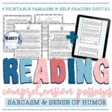 Understanding Sarcasm & Sense of humor Reading Comprehension Passages 4th & 5th