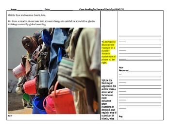 Understanding Scarcity Unit 1 SBAC Aligned Close-Reading