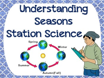 Understanding Seasons Station Science Lab Activities (5) with Simple materials