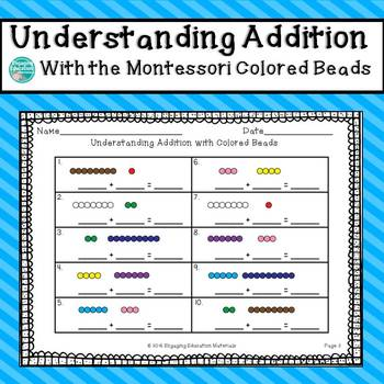 Understanding Single-Digit Addition with the Montessori Colored Beads