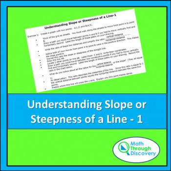 Middle School: Understanding Slope or Steepness of a Line - 1