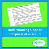Algebra 1 - Understanding Slope or Steepness of a Line - 1