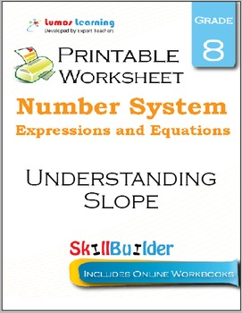 Understanding Slope Printable Worksheet, Grade 8