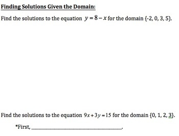 Understanding Solutions of Linear Equations