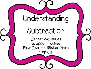 Understanding Subtraction - First Grade enVision Math - ma