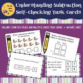 Understanding Subtraction - Self-Checking Task Cards - Fun Math Center Activity