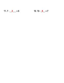 Understanding Subtraction Worksheet