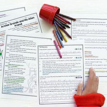 Understanding Text & Illustrations- 2nd & 3rd Grade RL.2.7 & RL.3.7
