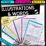 Using Illustrations to Understand Text RL.2.7 RL.3.7 - Printable & Digital