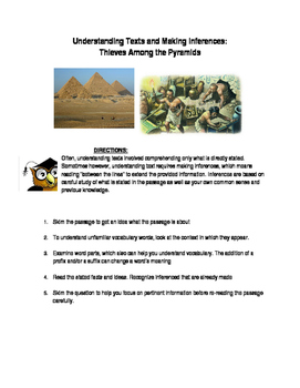 Understanding Texts- Egypt : Thieves Among the Pyramids