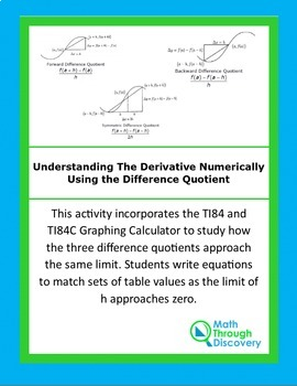Calculus:  Understanding The Derivative Numerically