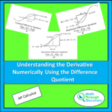 Calculus - Understanding The Derivative Numerically