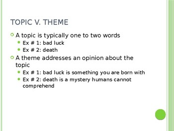 Understanding Theme