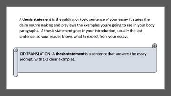 Understanding Thesis Statement Powerpoint