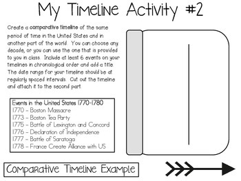 Understanding Timelines ~ Social Studies Interactive Notebook Pack