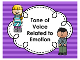Understanding Tone of Voice Related to Emotions