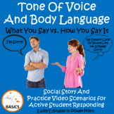 Understanding Tone of Voice and Body Language Social Story
