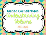 """""""Understanding Volume"""" Cornell Style Guided Notes {Fifth G"""