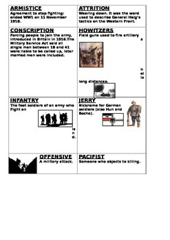 Understanding World War One Cards