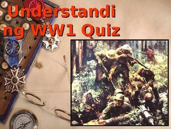 Understanding World War One Quiz