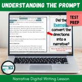Understanding Writing Prompt Directions 2-Day Digital Narr