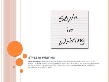 Understanding Writing Style